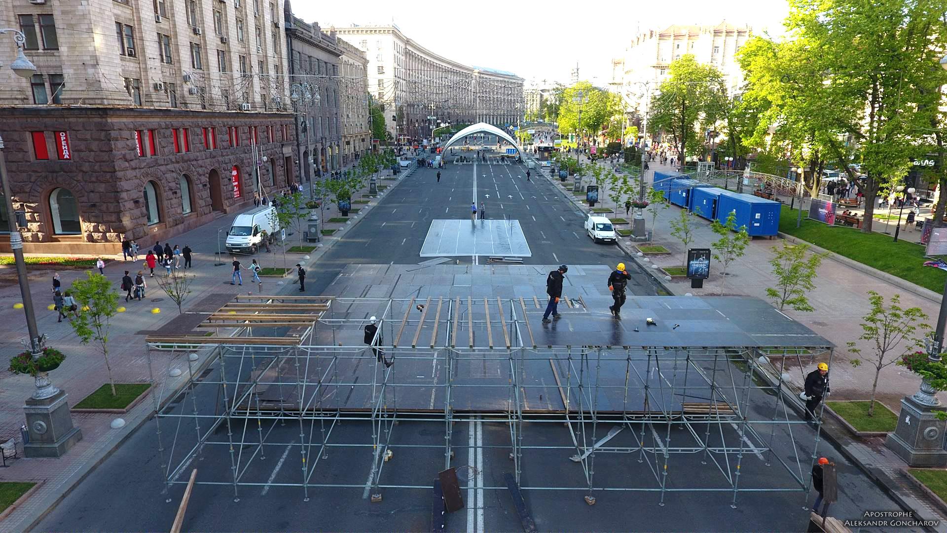Київ не готовий до перекриття Хрещатика у будні навіть заради Євробачення 2017 (відео)